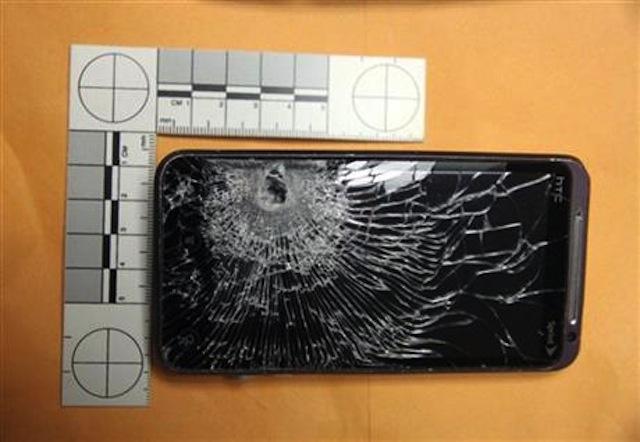 131029-htc HTC Phone Stops Bullet, Saves Clerk's Life