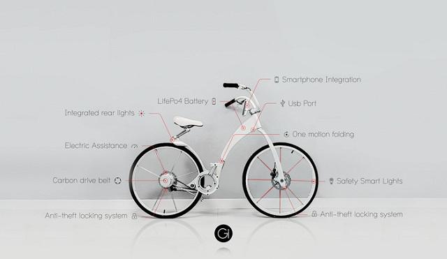 gi-bike-kickstarter-1 This Bike Seems To Belong To The future: The Foldable, Electric Gi-Bike (Video)