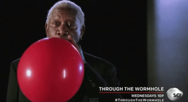 morgan-freeman-helium Why Morgan Freeman's Voice Sounds Funny After He Inhales Helium (Video)