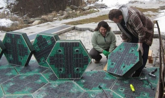 solar-road Parking Lot Paved With Solar Panels (Video)