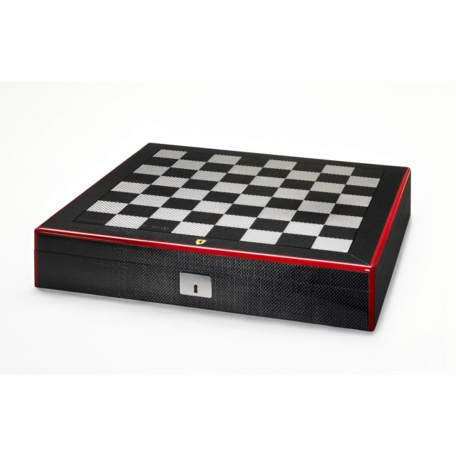 Ferrari-carbon-fiber-chess-set-1-640x640 Ferrari Carbon Fiber Handmade Chess Set Can Be Yours For $2,012