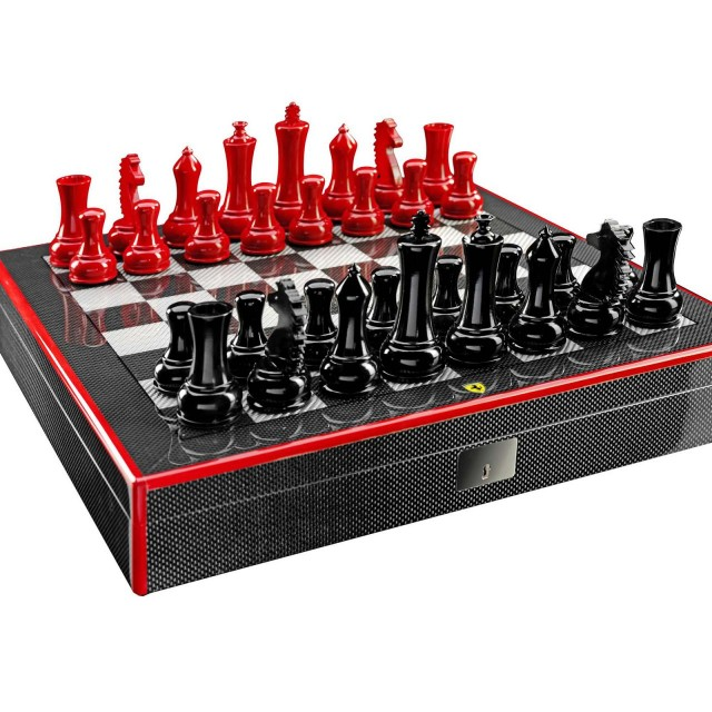 Ferrari-carbon-fiber-chess-set-640x640 Ferrari Carbon Fiber Handmade Chess Set Can Be Yours For $2,012