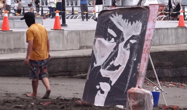 bruce-lee-street-artist-painting Amazing Street Artist Painting Bruce Lee (Video)