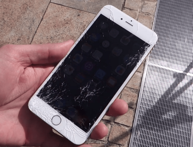 iphone-6-drop-test-shattered-screen Apple iPhone 6 And 6 Plus Drop Test (Strong, But Not Too Strong)
