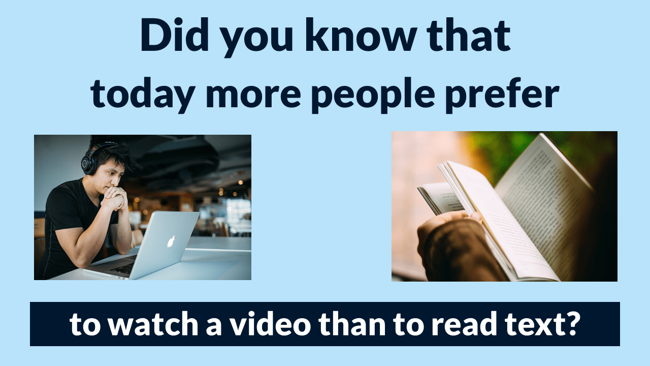 More People Prefer Video