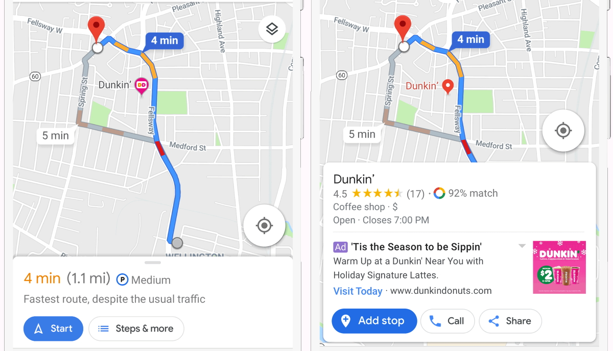 Google Maps is getting branded location pins