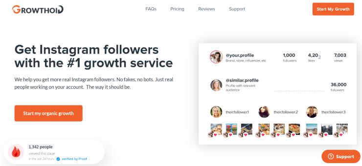 Growthoid homepage screenshot