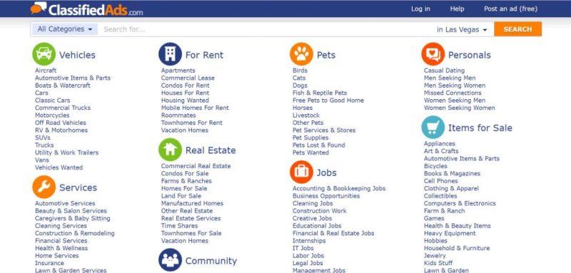 Free Advertising Sites: ClassifiedAds.com
