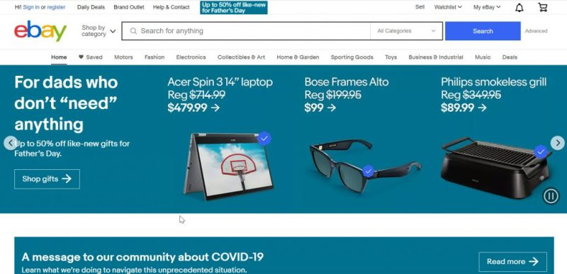 Free Advertising Sites: Ebay