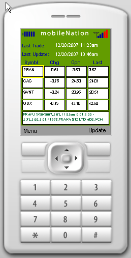 Stock Tracker application
