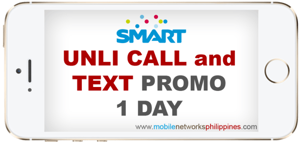 Smart Unli Call and Text 1 Day Promo