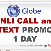 GOUNLI30 Globe Unli Call and Text 1 Day Promo