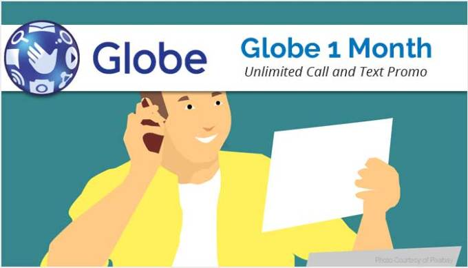 Globe Unlimited Call and Text Promo for 1 Month