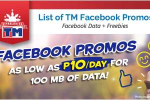 List of TM Facebook Promos 2018