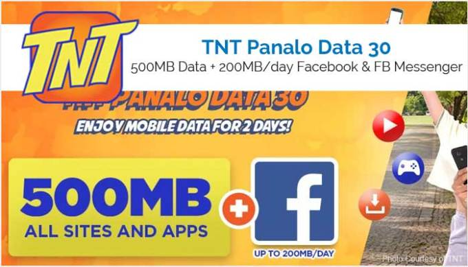 TNT Panalo Data 30 or PDATA30