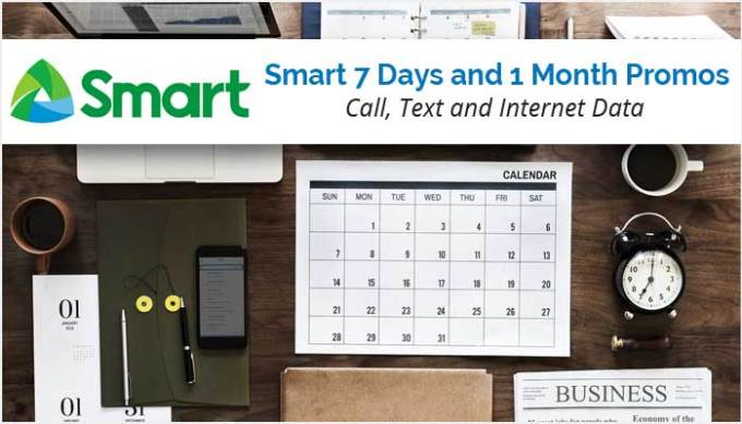 Smart 7 Days and 1 Month Promos