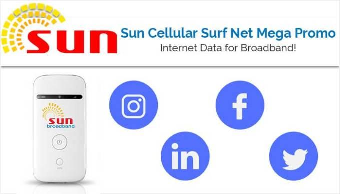 Sun Cellular Surf Net Mega Promo - Broadband