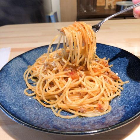 @cafeR_20190603  CafeR  ミートソースパスタ