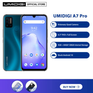 "UMIDIGI A7 Pro Cellphone 4GB+64GB/128GB ROM Quad Camera Andriod 10 6.3""FHD+ Full Screen LPDDR4X Octa Core Processor Global Version Smartphone"
