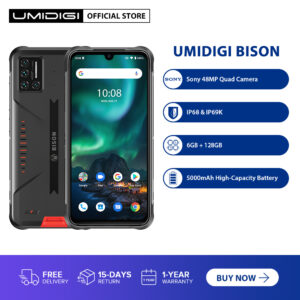 UMIDIGI BISON IP68/IP69K Waterproof Rugged Cellphone