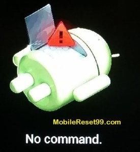 Hard Reset method - Android exclamation mark