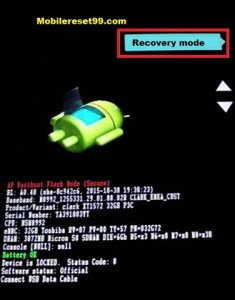 Motorola Recovery mode option - Hard Reset