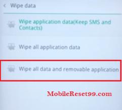 Oppo Wipe all data option - Hard Reset