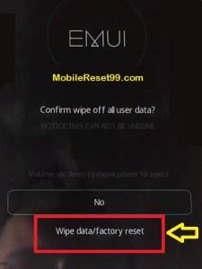 Hard Reset - Wipe data 2 Option