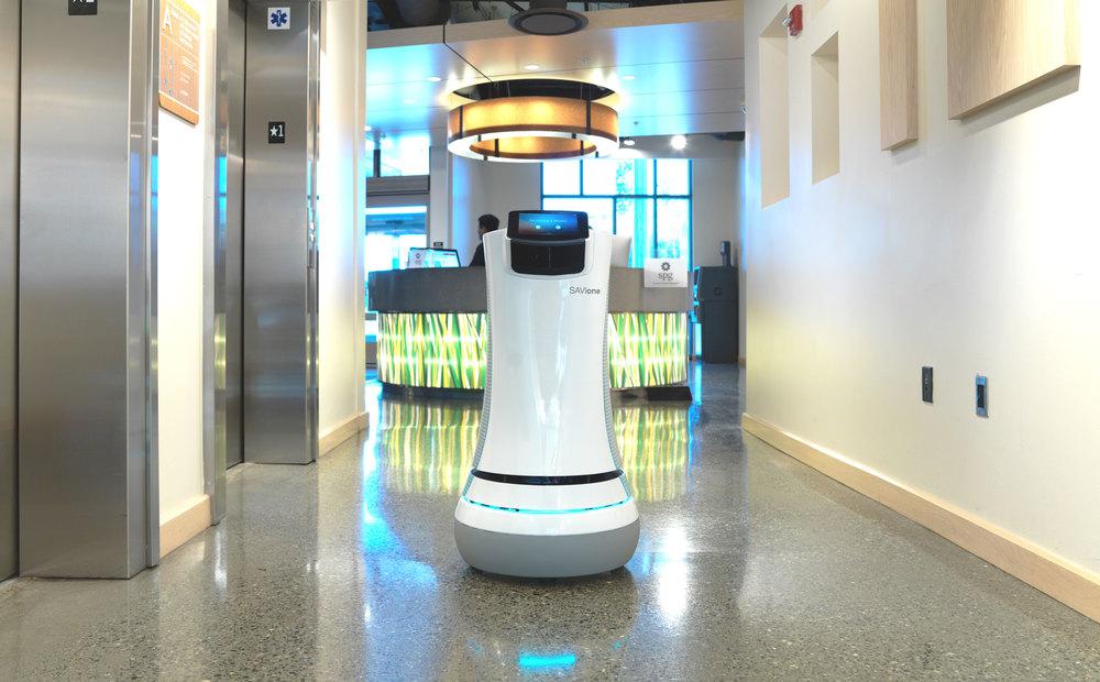 Savioke robot hopitalario