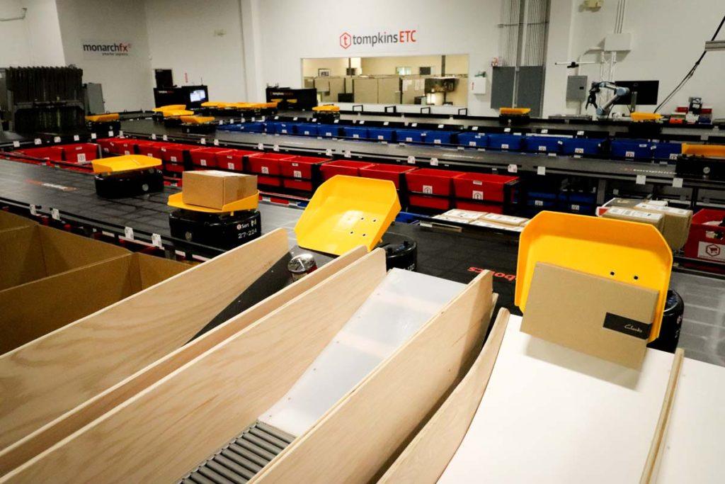 Tompkins robots sorting