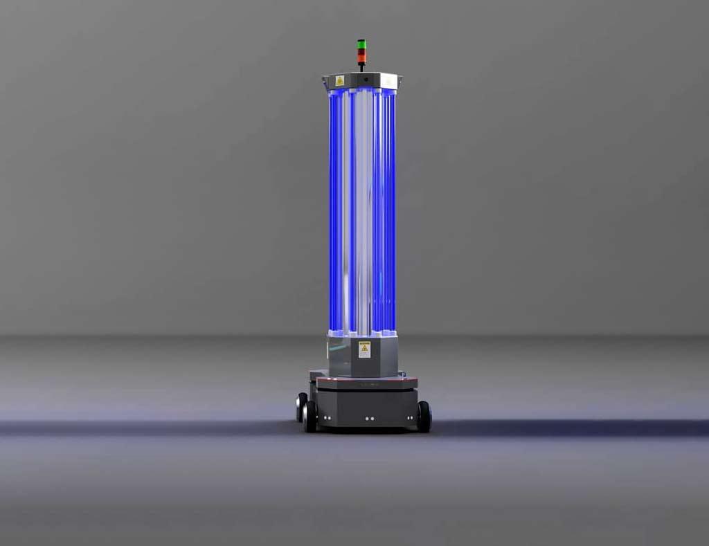 The Anscer Robotics UV disinfection AMR