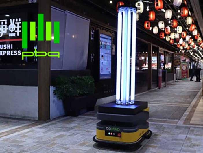PBA UV Robot in a mall