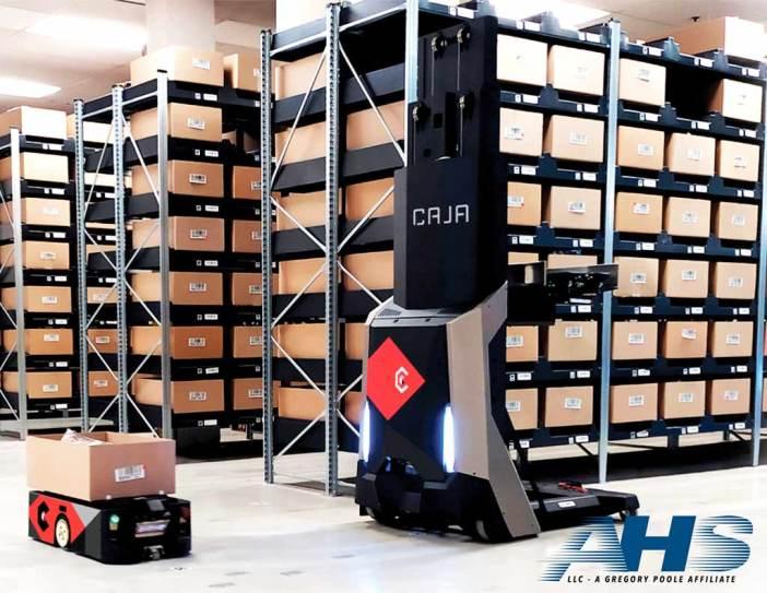 Caja robots with the AHS logo