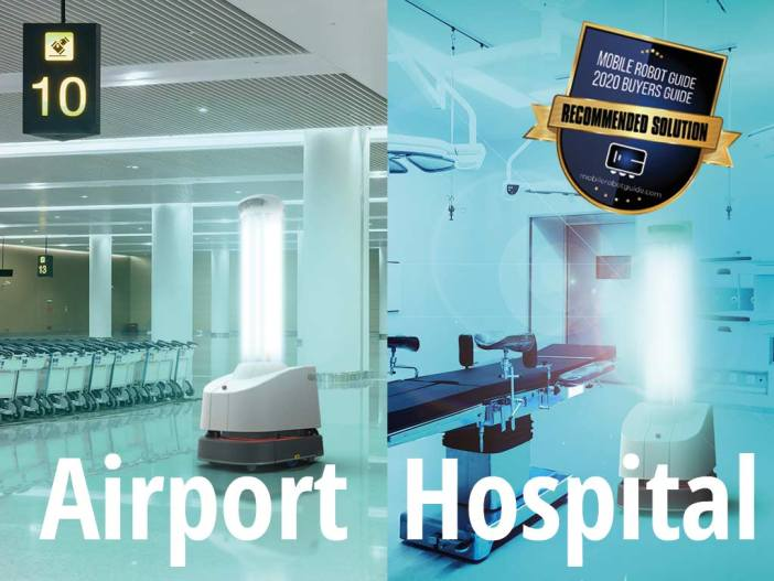 The UVD robot in both hospital and airport settings