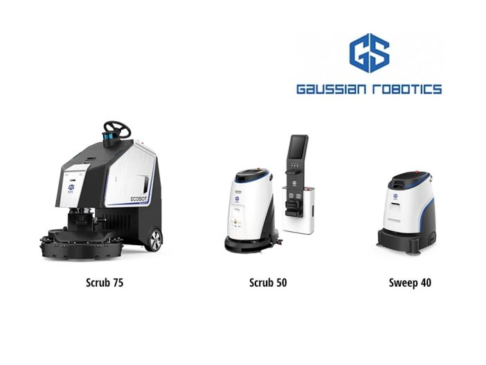 The Guassian Robotics product line including the Scrub 75, the Scrub 50 and the Sweep 40