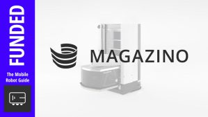 Cover image of Magazino logo with a banner that says: funded