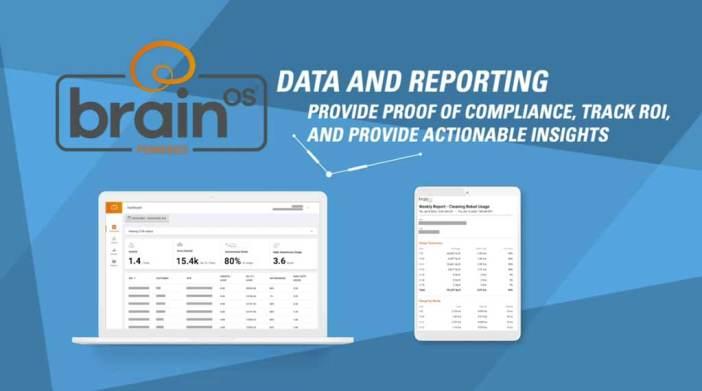BrainOS screenshot of reporting