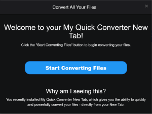 My Quick Converter Ads Malware
