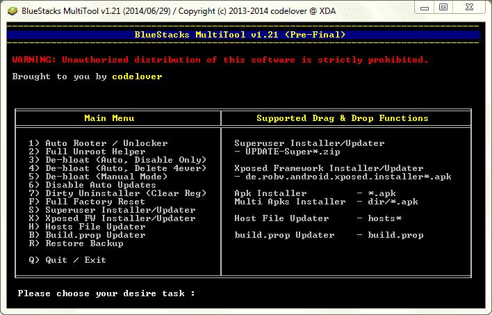 BlueStacks MultiTool v1.21