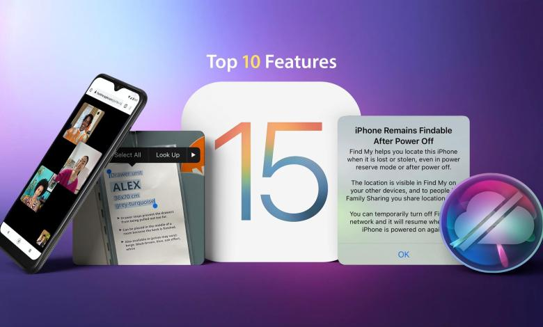 Photo of iOS 15 highlighted features