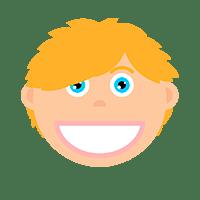 avatar blonde boy smiling