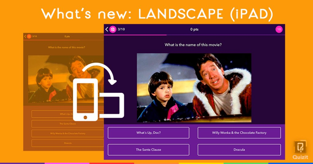 Quizit. What's new: Landscape mode.