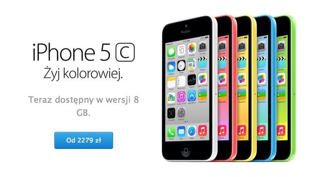 iPhone 5C 8 GB debiutuje na polskim rynku