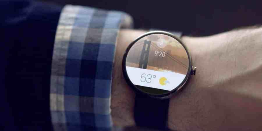 Zrzuty ekranu z interfejsu Android Wear
