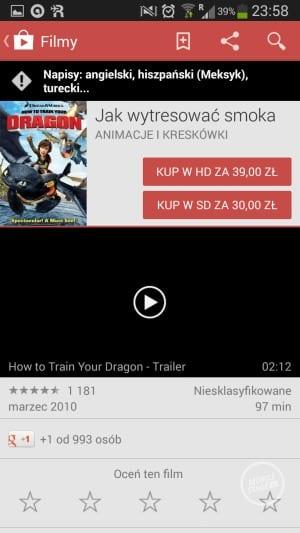 Filmy Google Play