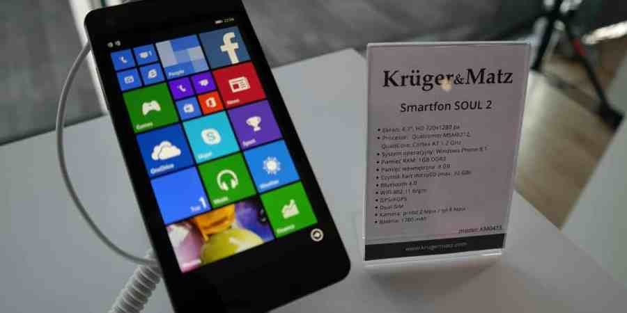 Kruger&Matz prezentują Soul 2 – polski smartfon z Windows Phone