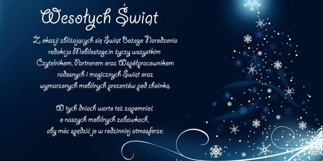 Życzenia świąteczne od Redakcji Mobilestage.in