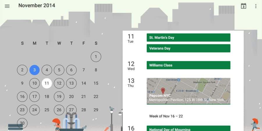 Google Kalendarz z funkcją ustawiania celów