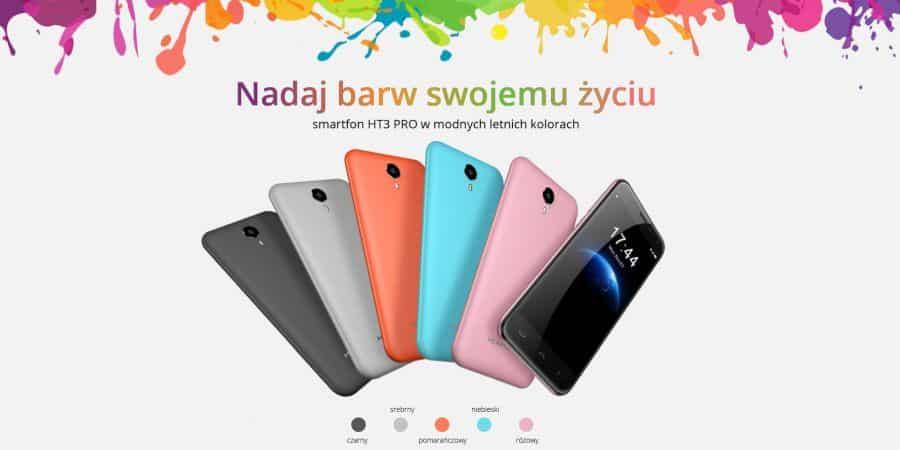 HOMTOM HT3 PRO – kolorowy i tani smartfon z 2GB RAM