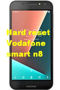 Hard reset Vodafone smart n8